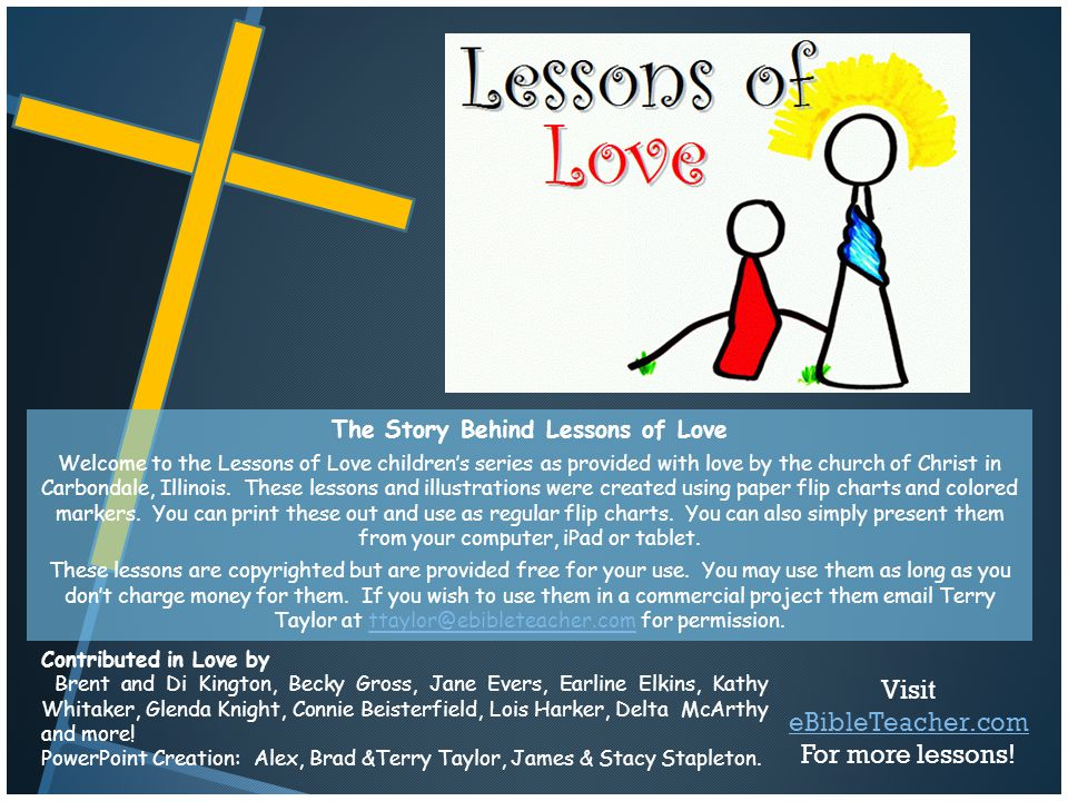 The Story Behind Lessons of Love