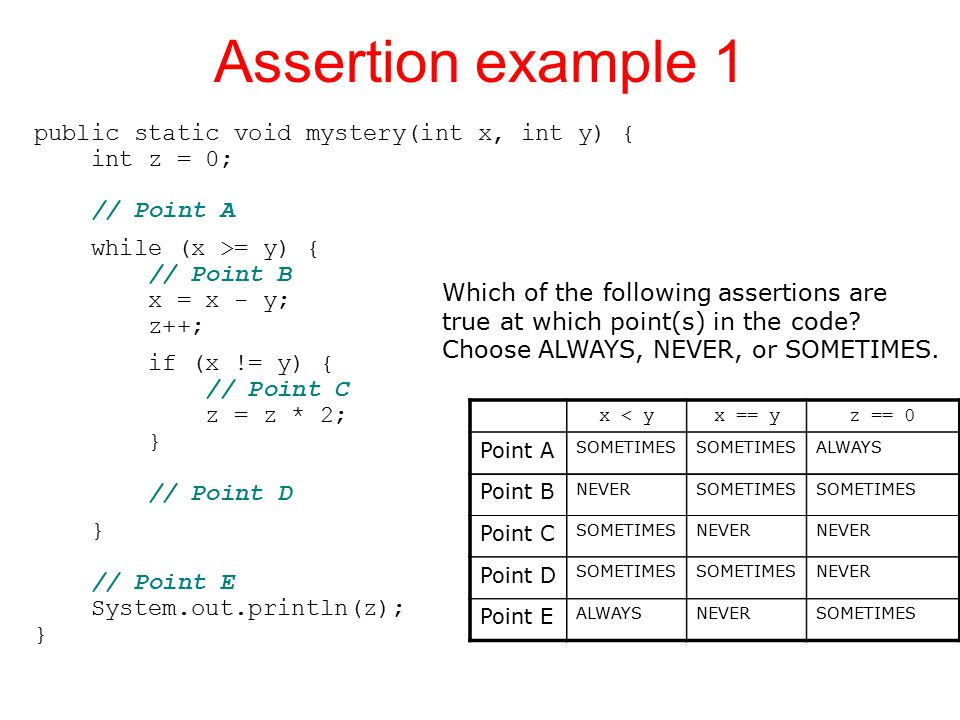 Assertion example 1