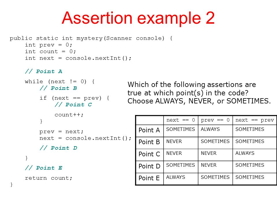 Assertion example 2