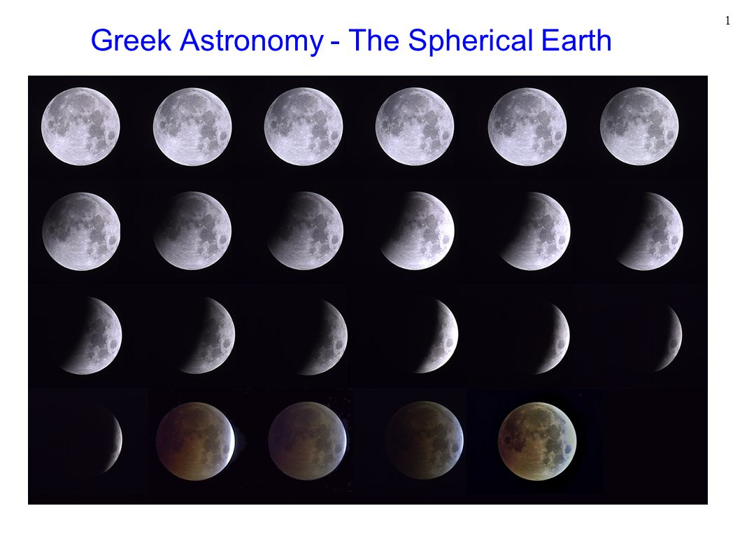 Greek Astronomy - The Spherical Earth