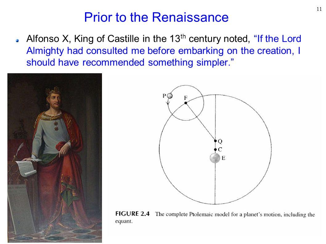Prior to the Renaissance