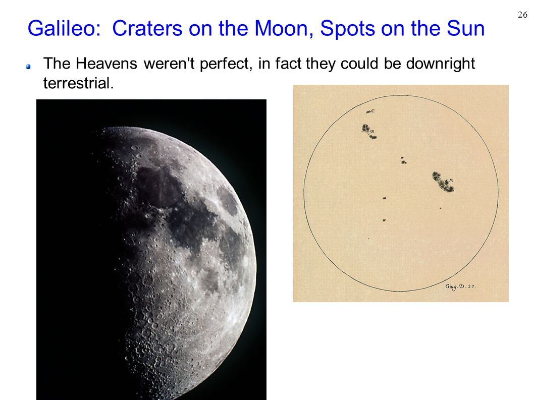 Galileo: Craters on the Moon, Spots on the Sun