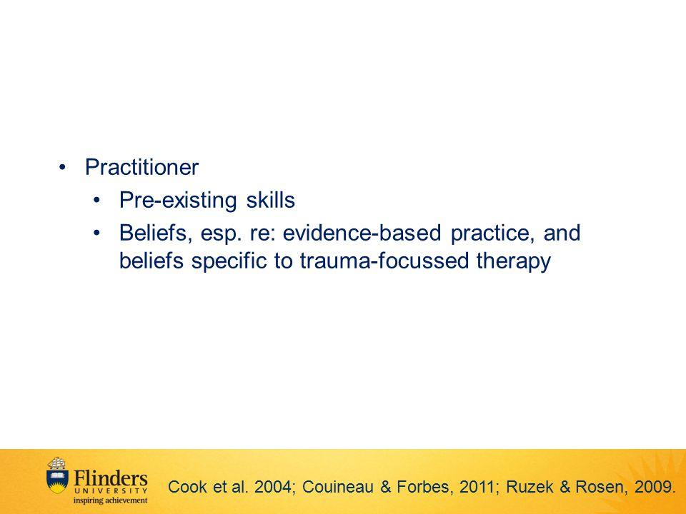 Practitioner Pre-existing skills