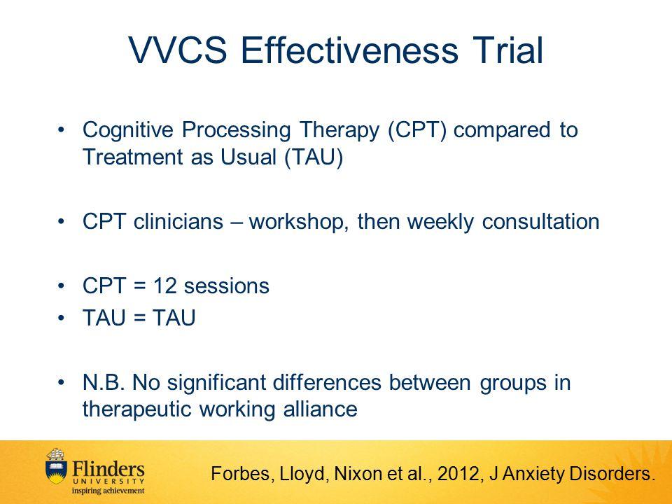 VVCS Effectiveness Trial