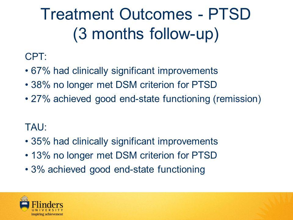 Treatment Outcomes - PTSD (3 months follow-up)