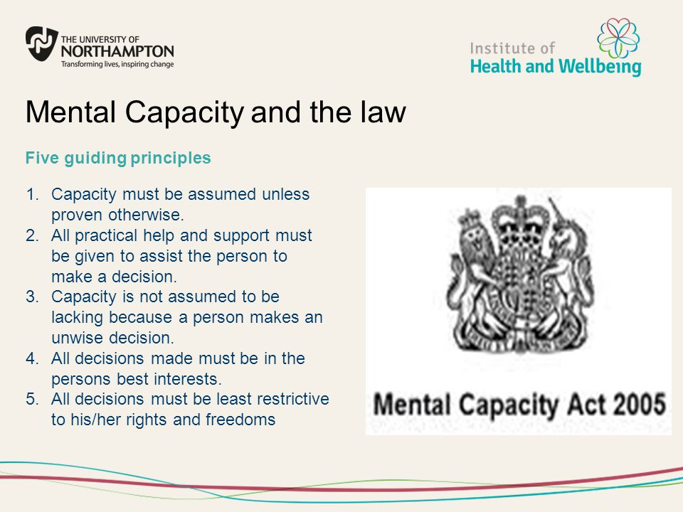 Mental Capacity and the law