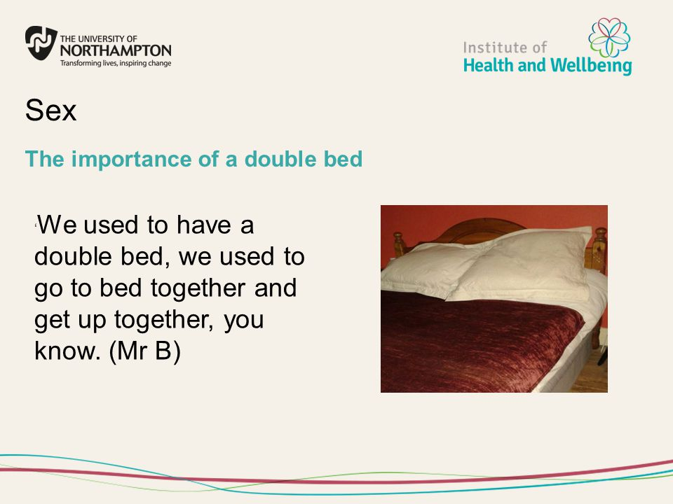 Sex The importance of a double bed