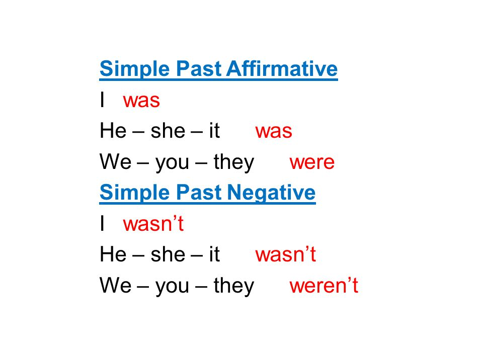 Simple Past Affirmative