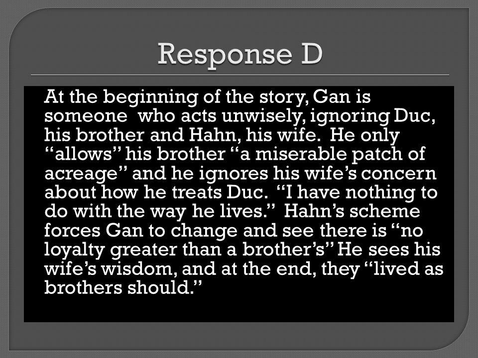 Response D