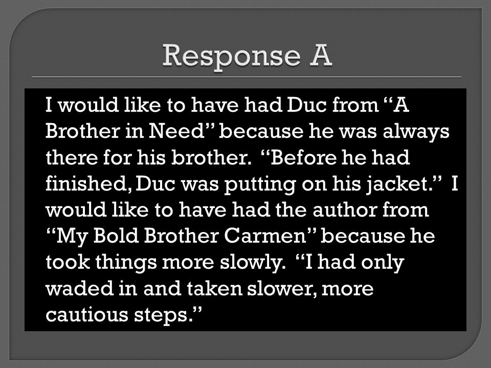 Response A