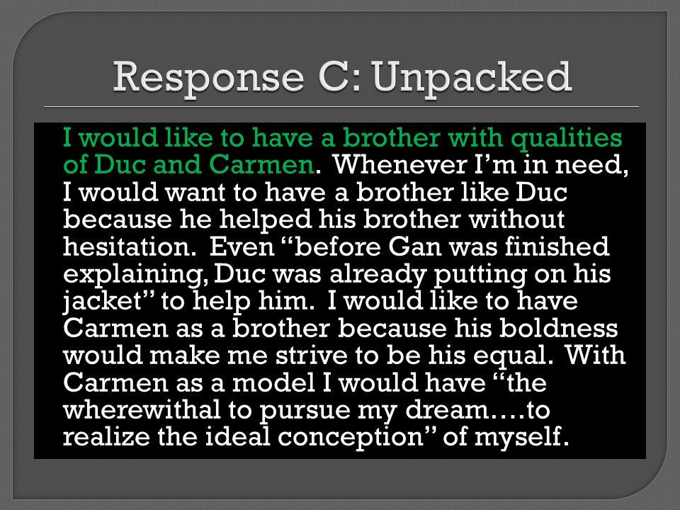 Response C: Unpacked