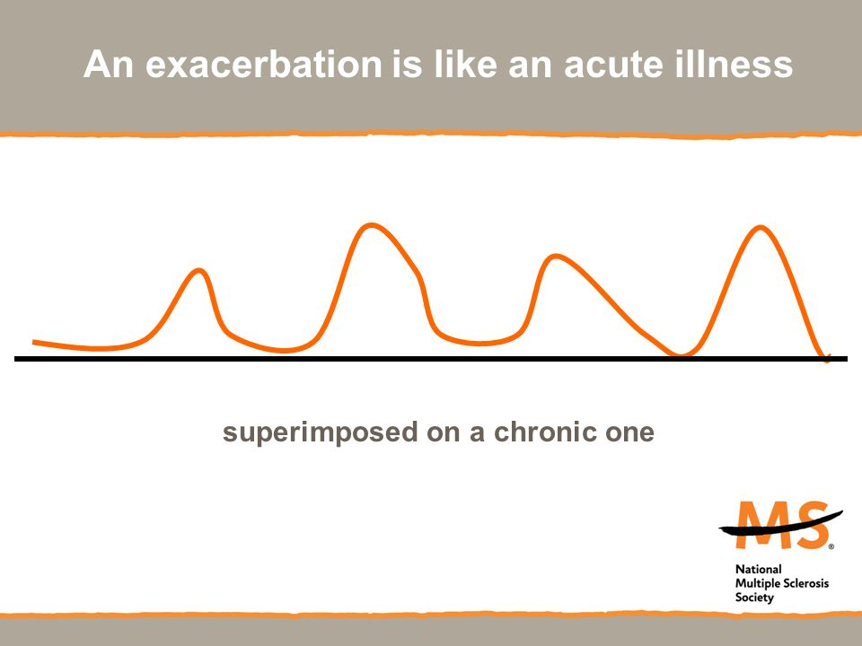 An exacerbation is like an acute illness superimposed on a chronic one