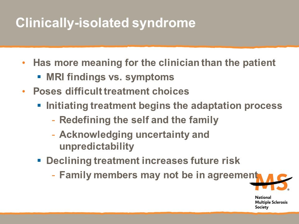 Clinically-isolated syndrome