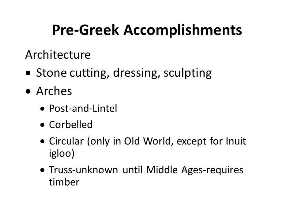 Pre-Greek Accomplishments