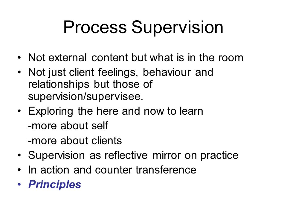 Process Supervision Not external content but what is in the room