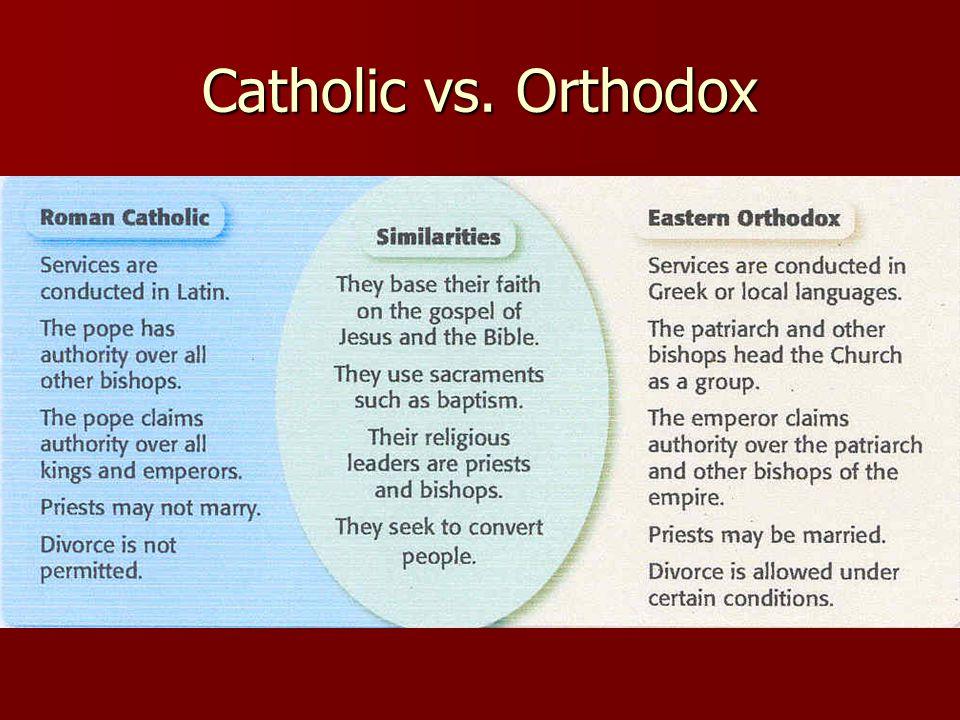Catholic vs. Orthodox