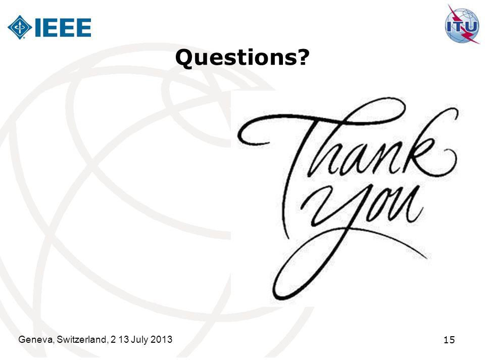 Questions Geneva, Switzerland, 2 13 July 2013