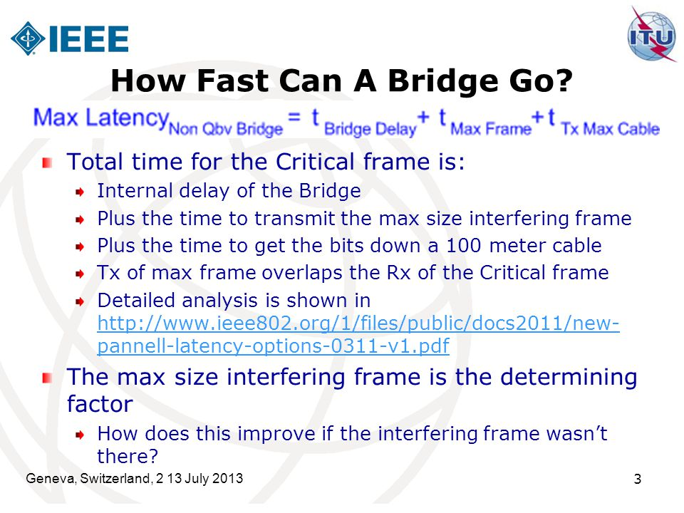 How Fast Can A Bridge Go Total time for the Critical frame is: