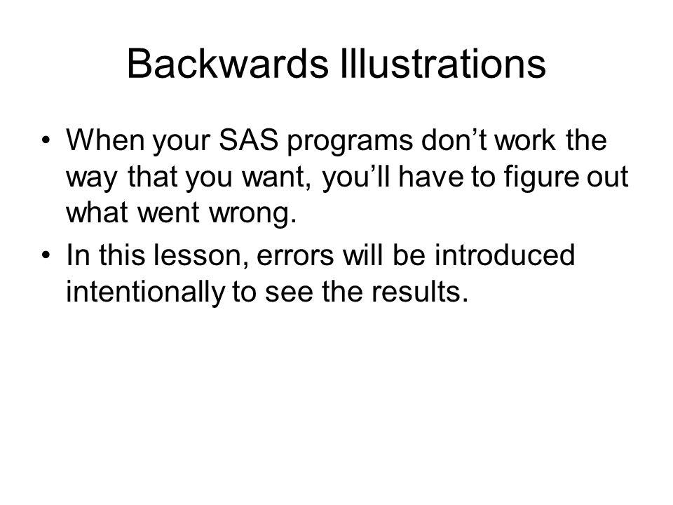Backwards Illustrations