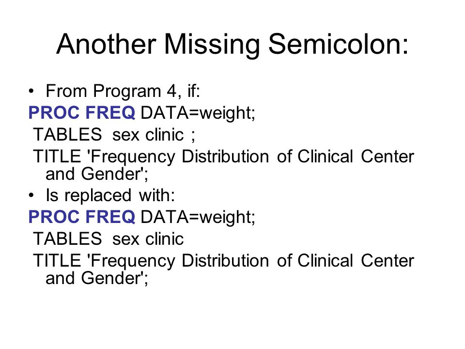 Another Missing Semicolon: