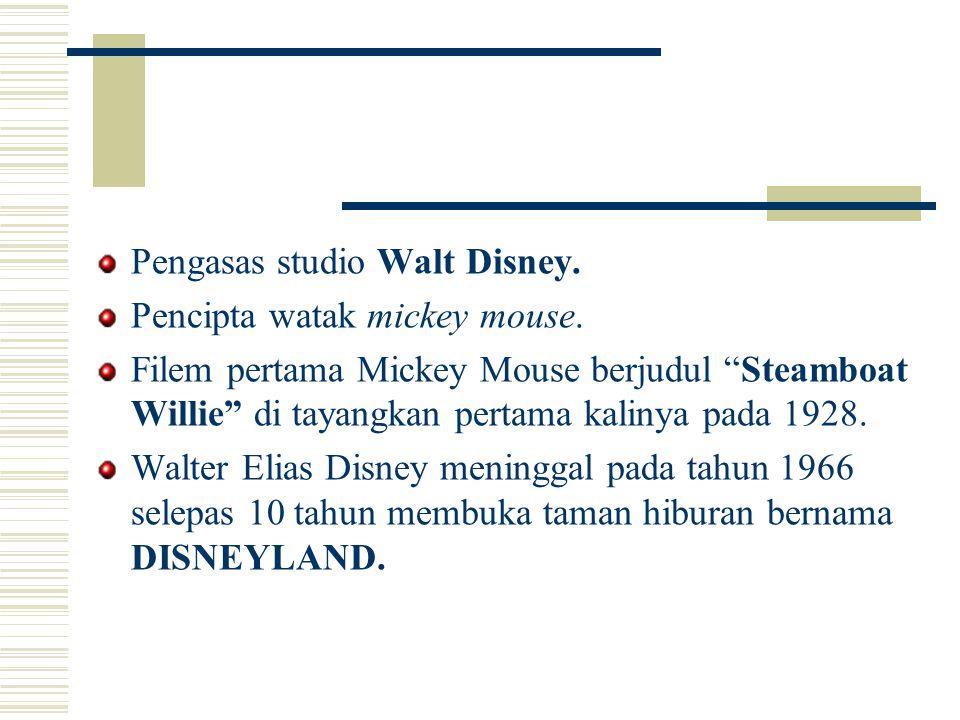 Pengasas studio Walt Disney.
