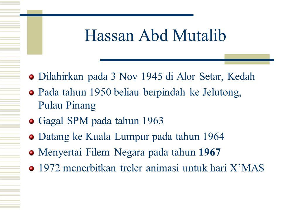 Hassan Abd Mutalib Dilahirkan pada 3 Nov 1945 di Alor Setar, Kedah