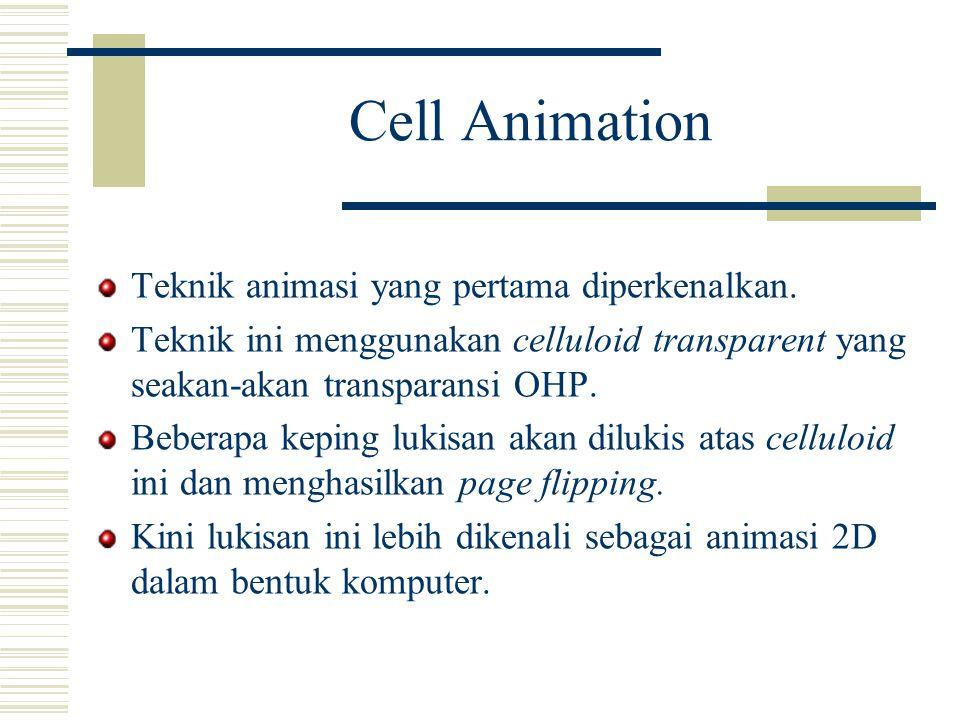 Cell Animation Teknik animasi yang pertama diperkenalkan.