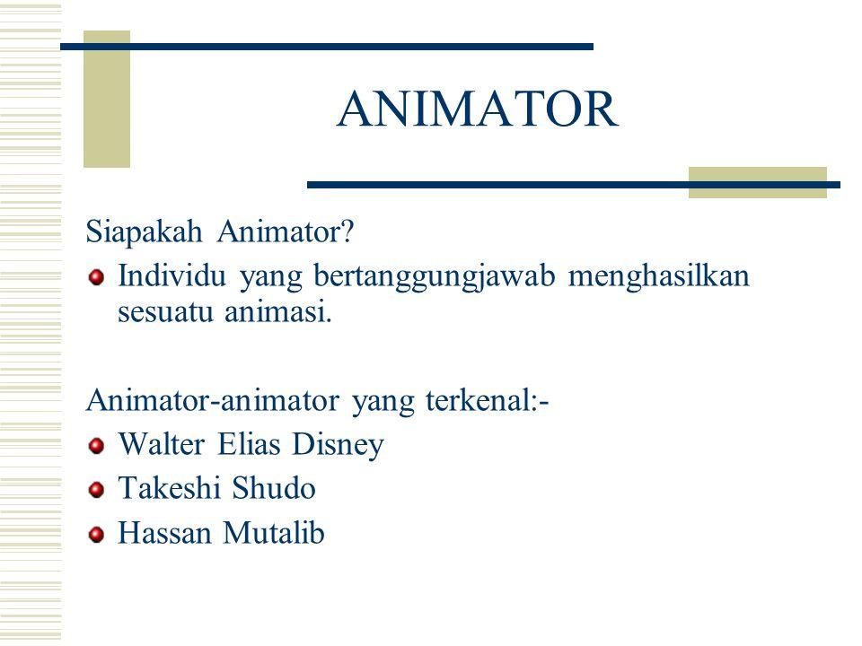 ANIMATOR Siapakah Animator