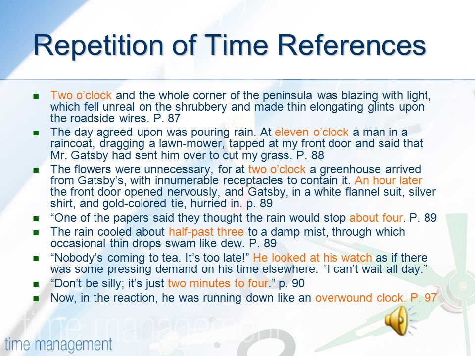 Repetition of Time References