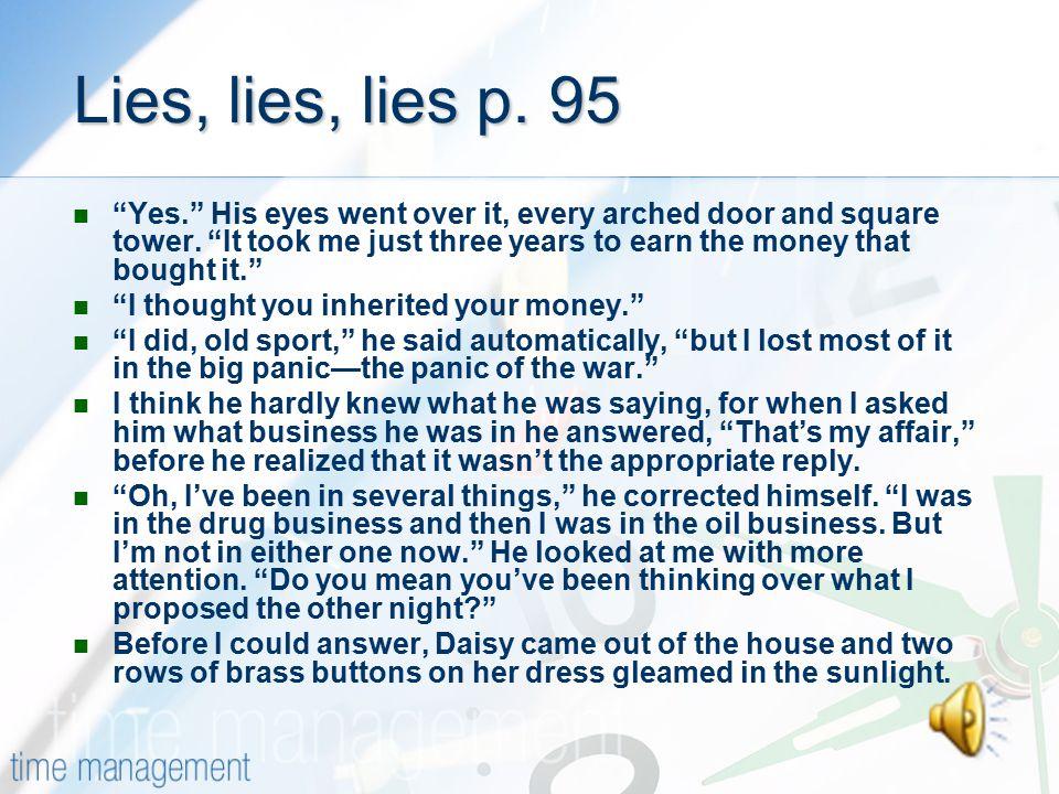 Lies, lies, lies p. 95