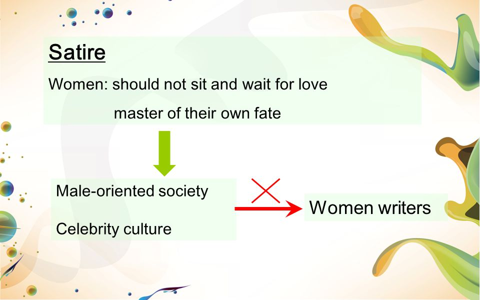 Satire Women writers Women: should not sit and wait for love