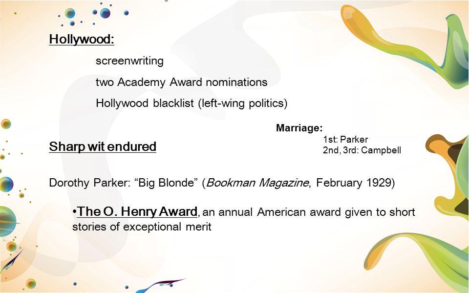 Hollywood: Sharp wit endured