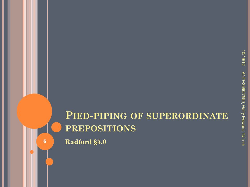 Pied-piping of superordinate prepositions