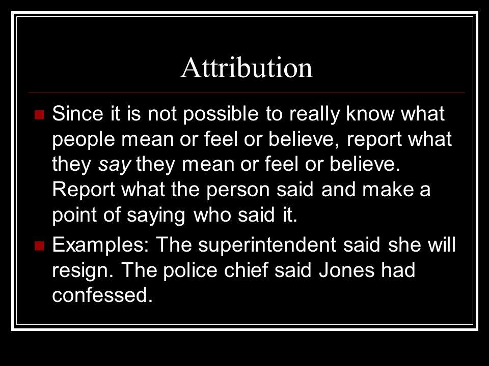 Attribution