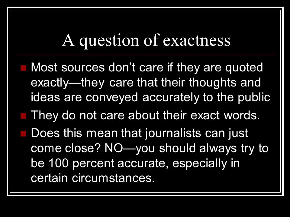 A question of exactness