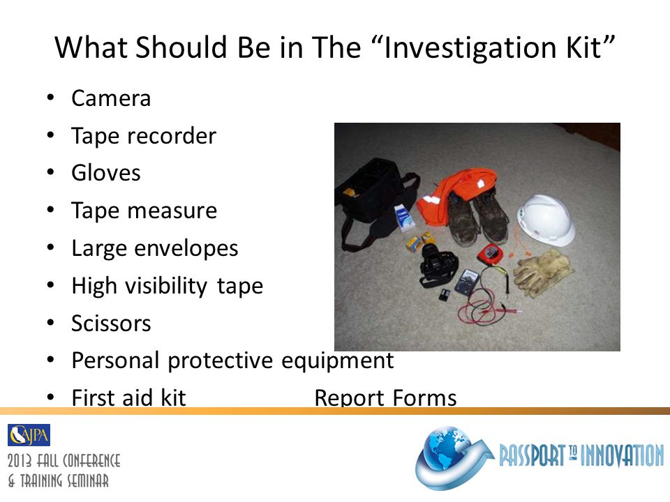 What Should Be in The Investigation Kit