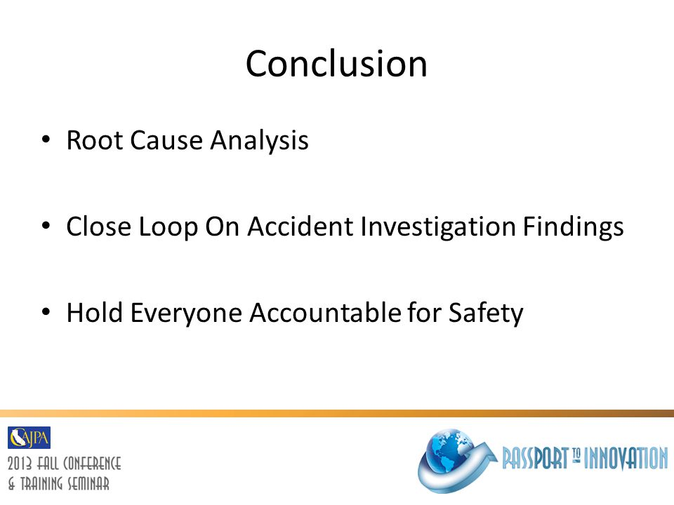 Conclusion Root Cause Analysis