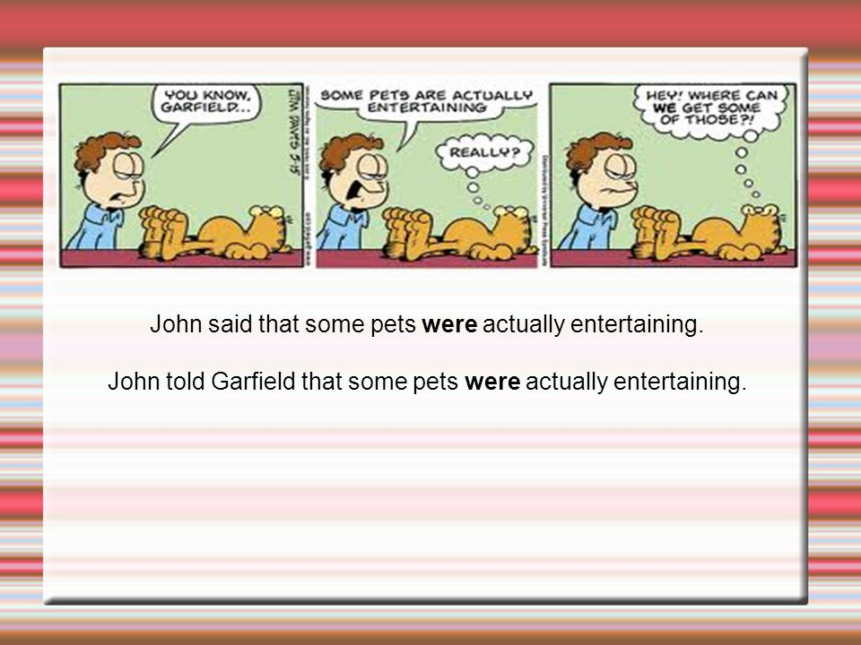John said that some pets were actually entertaining.