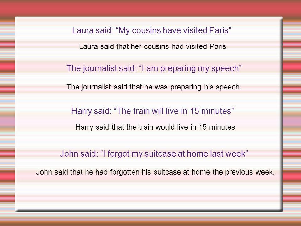Laura said: My cousins have visited Paris