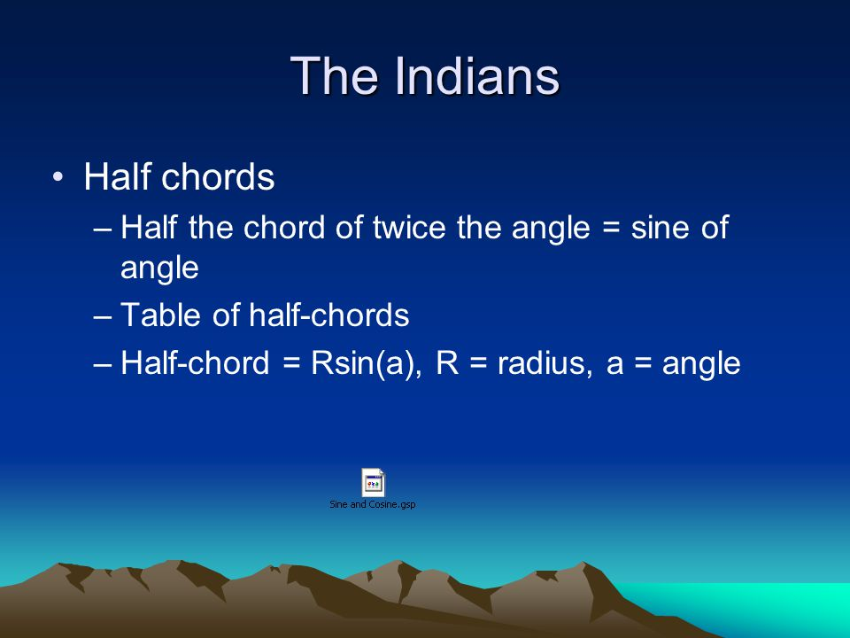 The Indians Half chords