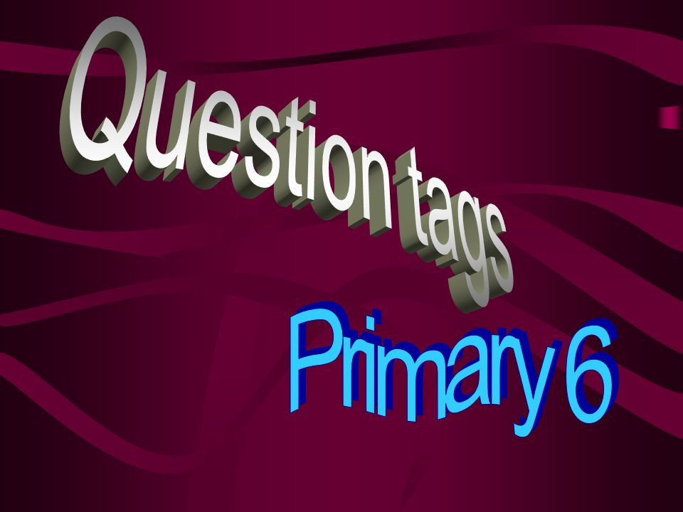 Question tags Primary 6