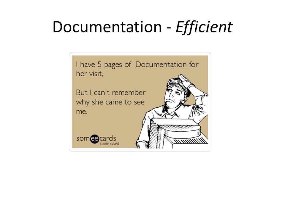 Documentation - Efficient