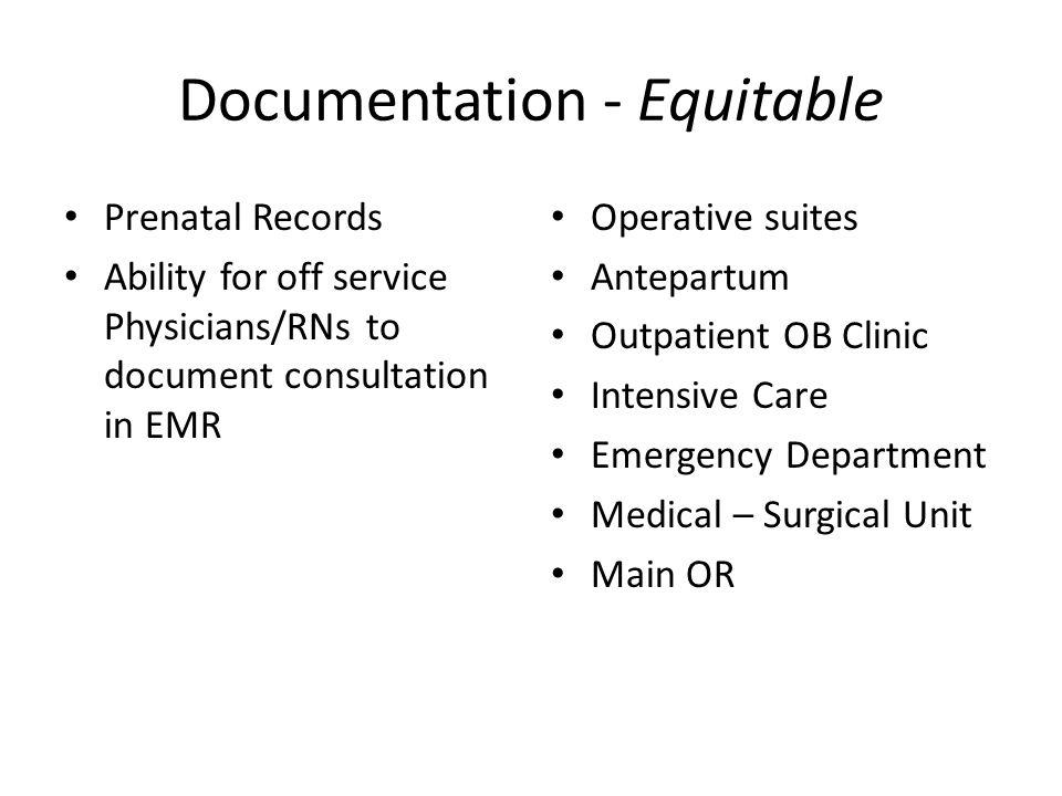 Documentation - Equitable