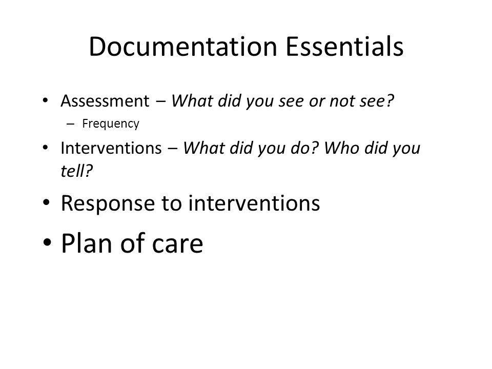 Documentation Essentials