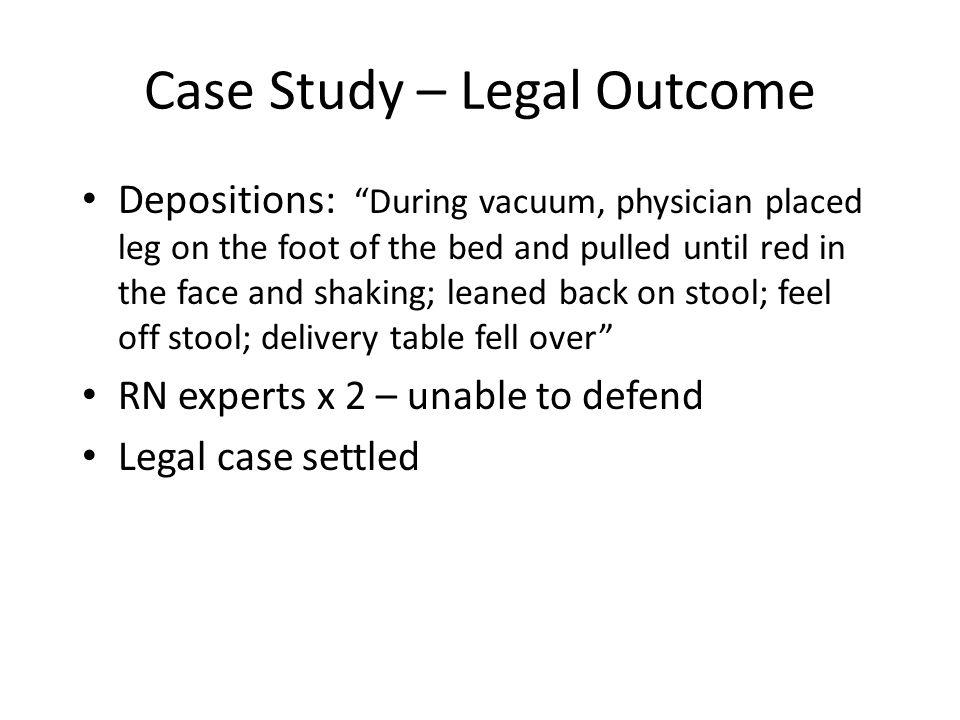 Case Study – Legal Outcome