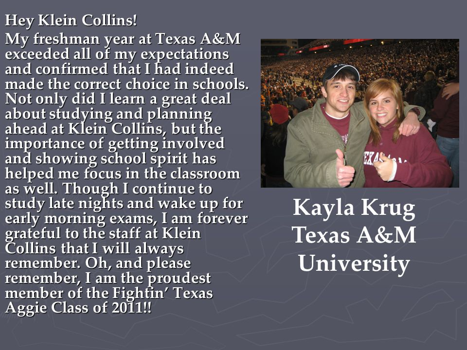 Kayla Krug Texas A&M University