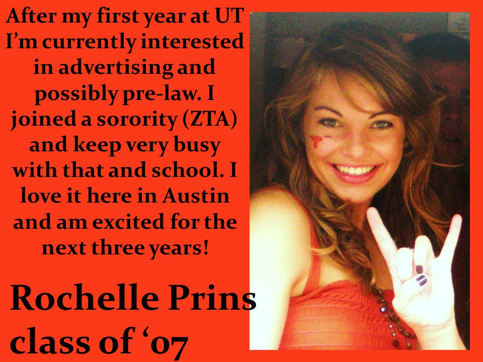 Rochelle Prins class of '07
