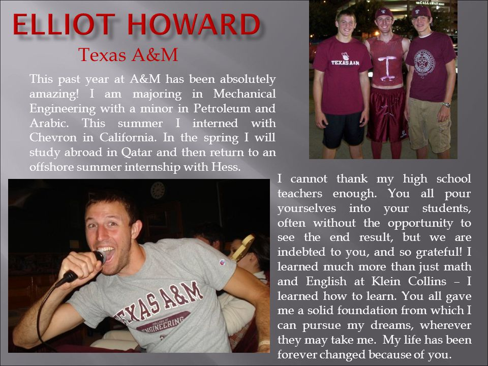 Elliot Howard Texas A&M