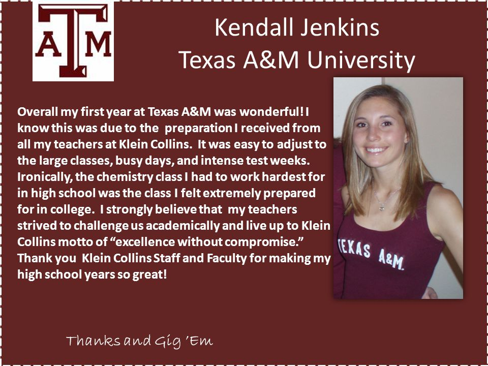 Kendall Jenkins Texas A&M University