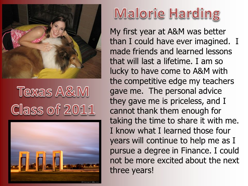 Malorie Harding Texas A&M Class of 2011